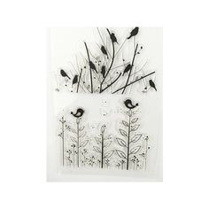 2016 New Scrapbook DIY Photo Album Account Transparent Silicone Rubber Clear Stamps The Branches Of The Bird Design. #Affiliate