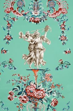 Federal Wallpaper from the 1790s taken from Locust Grove...the Locust Grove Arabesque wall paper.