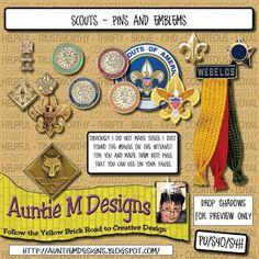 Auntie M Designs: Scouts clipart