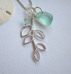 leaf and seaglass