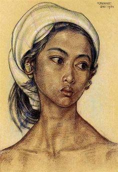 portrait balinais en peinture - Recherche Google