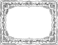 vintage french printable borders - Google Search