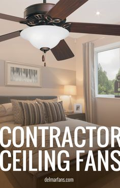 Contractor ceiling fans are designed for easy installation. With these fans, you no longer have to choose between price and quality! | Del Mar Fans & Lighting  #ceilingfan #contractor #builder #builderfan #contractorfan #homedecor #homeimprovement #design