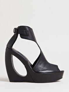 Ann Demeulemeester Women's Curved Vitello Heels