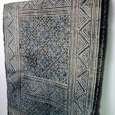 Vintage-Hmong-Textiles-Fabric-Hemp-Handmade-Table-Runner-HPH-168