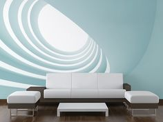 WALL MURAL INFO: There is light at the end of the tunnel, or at least inside this abstract architecture in this wall mural from Eazywallz.com. Underneath the twisted construction forming the spiral on this mural, a beam of light adds a bright spot to the room. Place a couch, or any other piece of furniture here, and make it the focal piece of the room. PRODUCT INFO: - Material: Peel & Stick Thin Canvas - Finish: Matte - Thickness:6.0 mil No extra tools, glue, paste or water needed for...