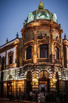 The beautifully restored Teatro Alcala in Oaxaca, Mexico