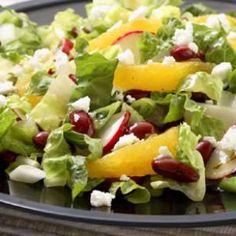 Romaine Salad with Orange, Feta & Beans Recipe