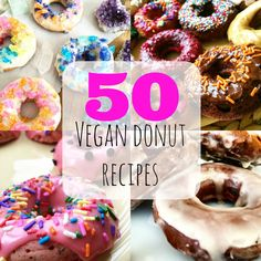 National Donut Day: 50 Vegan Donuts Round-Up Vegan Treats, Vegan Foods, Vegan Snacks, Vegan Dishes, Vegan Donut Recipe, Vegan Doughnuts, Donut Recipes, Do It Yourself Food, National Donut Day