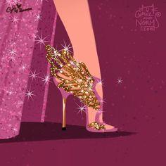 Day 15-- Megara shoes Another @sophiawebster inspired design.