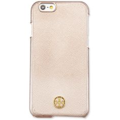 Tory Burch Robinson Logo i Phone 6 Case ($65) ❤ liked on Polyvore featuring accessories, tech accessories, phone cases, rose gold, tory burch and tory burch tech accessories