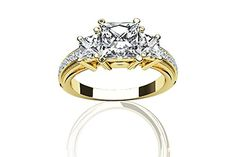$2,997  -  1.69 CARATS PRINCESS * EGL CERTIFIED * DIAMOND THREE STONE ENGAGEMENT RING ON 18K SOLID YELLOW GOLD F 26 D http://www.amazon.com/dp/B00OSRBDR0/ref=cm_sw_r_pi_dp_v1Nyub0NTGTCQ