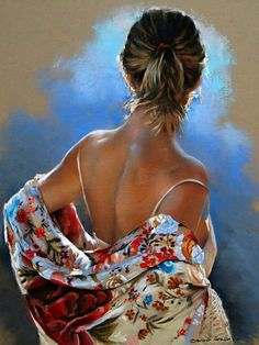 Kai Fine Art is an art website, shows painting and illustration works all over the world. Woman Painting, Figure Painting, Selling Paintings, Buy Paintings, Pastel Portraits, Poses References, Painted Ladies, Pastel Art, Portrait Art