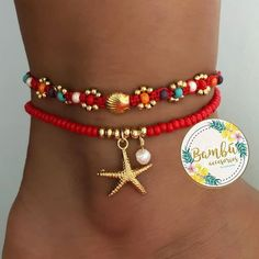 No hay descripción de la foto disponible. Jewelry Model, Cute Jewelry, Diy Jewelry, Beaded Jewelry, Women Jewelry, Jewelry Making, Beaded Bracelets, Ankle Jewelry, Ankle Bracelets