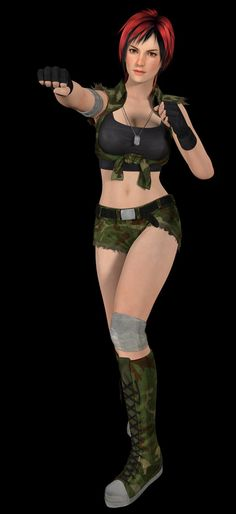 Dead or Alive 5 - Mila Military by SilverMoonCrystal.deviantart.com on @DeviantArt