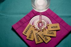 The ORIGINAL Tipsy Wine Glass Charms - Set of Four - Perfect for Gift Giving!
