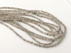 16 Grey Rough Rondelle Diamond Chip Beads by gemsforjewels on Etsy