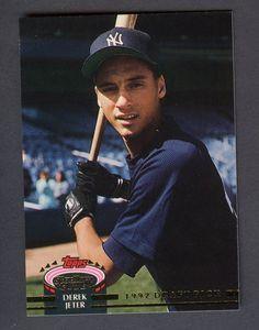 1993 Topps Stadium Club Murphy #117 Derek Jeter New York Yankees RC Rookie #BaseballCards
