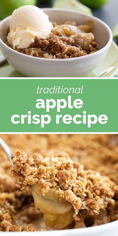 Always a classic, this Apple Crisp Recipe is an easy dessert that is perfect every fall. Sliced apples are baked with the perfect crisp topping in this desert that is best served warm from the oven with a scoop of ice cream. #recipe #applecrisp #apples #dessert #fall Simply Recipes, Fall Recipes, Yummy Recipes, Traditional Apple Crisp Recipe, Easy Desserts, Dessert Recipes, Easy Pineapple Cake, Apple Crisp Recipes, Best Apple Crisp Recipe