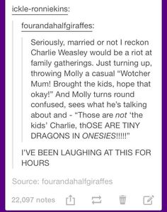 "This truth about Charlie Weasley: You're Gonna Need Some ""Harry Potter"" Knowledge To Get These Jokes Harry Potter World, Harry Potter Jokes, Harry Potter Universal, Harry Potter Fandom, Harry Potter Feels, Harry Draco, Harry Potter Marauders, Harry Potter Ships, Severus Snape"