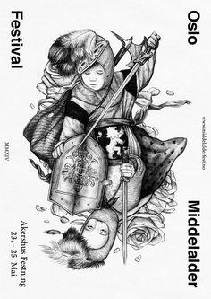 Middelalderfestival Poster (hang both directions). Bredenbekk