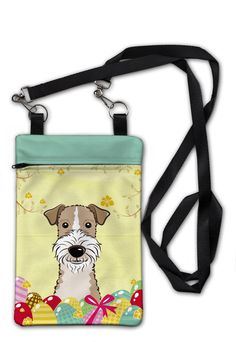 Wire Haired Fox Terrier Easter Egg Hunt Crossbody Bag Purse BB1929OBDY