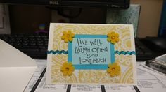 A card of appreciation for a  dear coworker   #stamping #daisy #embellish #diy #card #handmade