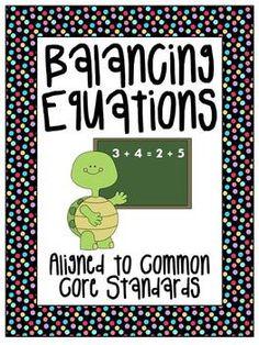 Balancing Equations Packet of Fun
