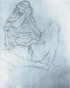 Mood Tonight - 35 Erotic Drawings by Gustav Klimt - Art-Sheep Figure Sketching, Figure Drawing, Art Klimt, Arte Dope, Baumgarten, Life Drawing, Erotic Art, Female Art, Les Oeuvres