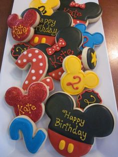 Occasional Cookies: Mickey Mouse Birthday