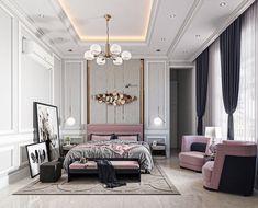 Modern Luxury Bedroom, Master Bedroom Interior, Luxury Bedroom Design, Girl Bedroom Designs, Stylish Bedroom, Home Room Design, Home Design Plans, Luxurious Bedrooms, Home Decor Bedroom