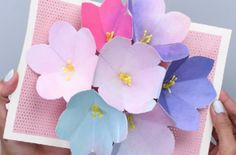 DIY blooming flowers Mother's Day card
