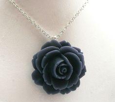 Rose Flower NecklaceGrey NecklacePendant by ElenaLimitedEdition, $25.00