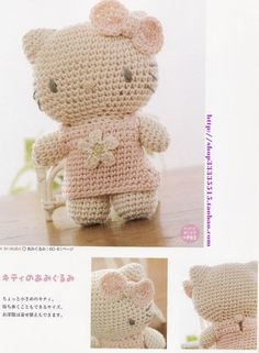 crochet Hello Kitty - Not usually a fan, but this pastel look is lovely!