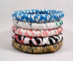 Bangles made from recycled plastic bags                                                                                                                                                                                 More