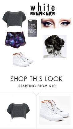 """#whitesneakers"" by alacebo ❤ liked on Polyvore featuring Vans"