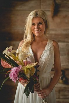 This bride's bouquet consists of one of each of her favorite flowers | Studio 22 Photography