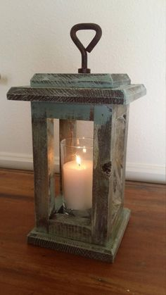 Rustic Wood Candle Lanterns made from repurposed materials. The Colors Hooks and exact size will vary. Diy Candle Lantern, Driftwood Lamp, Rustic Lanterns, Rustic Candle Holders, How To Make Lanterns, Rustic Wood, Wood Crafts, Candles, Design Design