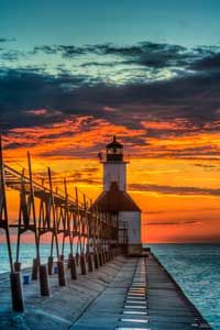 "Winning ""Pure Michigan Moment"" - of the St. Joseph North Pier Lighthouse - will appear in the 2013 Pure Michigan Travel Guide."