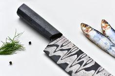 Damascus knife couteaux béton par Tomas Vacek