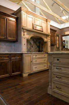 Mix your cabinetry to create focal points and variety. Stop into the Millard Lumber showroom today for more inspiration! http://www.millardlumber.com/index.php?option=com_content&view=article&id=12&Itemid=72