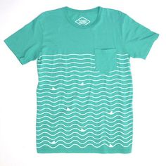 Shark Lines Pocket Tee, $40, now featured on Fab.