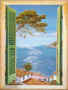 Fenster auf die Bucht Kunstdrucke von Andrea Del Missier bei AllPosters.de