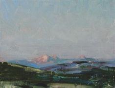 "Daily Paintworks - ""Alaska Sunset"" - Original Fine Art for Sale - © Fongwei Liu"
