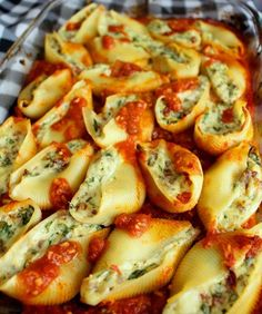 These super stuffed shells are sure to be a crowd pleaser at your next family