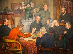 la lecture par Verhaeren Theo van Rysselberghe_The_Reading_1903
