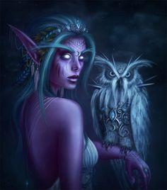 Tyrande, the High Priestess of Elune by the-unilluminated on DeviantArt
