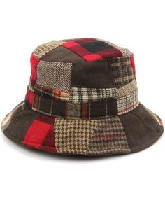 Hawkins Patchwork Tweed bucket hat - Red Patchwork 2dcb2c3a5d7a