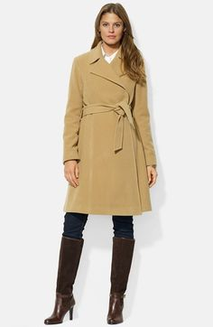 Lauren+Ralph+Lauren+Wool+Blend+Wrap+Coat+ Lauren Ralph Lauren Wool Blend Wrap Coat (Plus Size) NZD 666.21