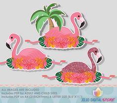 Flamingo Paper Crown Party Hat for Flamingo Party